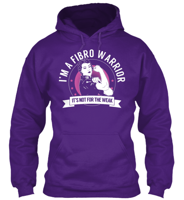 fibro warrior purple hoodie