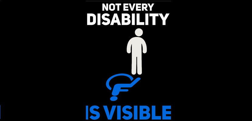 not every disabiliy is visible image