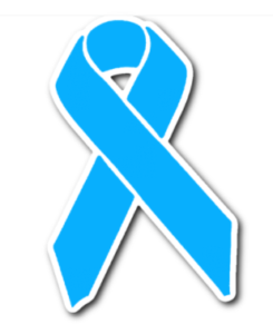 light blue awareness ribbon
