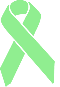 light green awareness ribbon