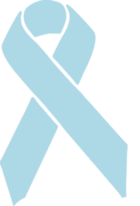 pale blue awareness ribbon